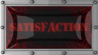 Satisfação em led — Vídeo Stock