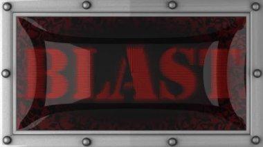 Blast on led — Stock Video