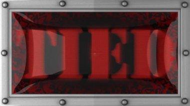 привязали на светодиодные — Стоковое видео