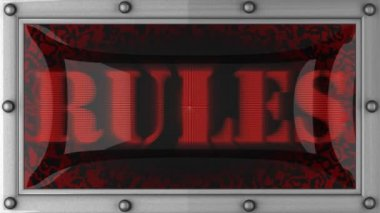 Rules on led — Wideo stockowe