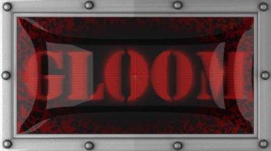 Gloom on led — Stock Video