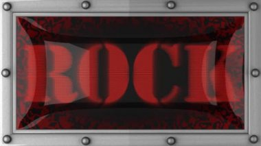 Rock on led — Stock Video