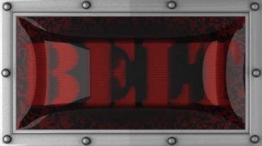 Belt on led — Stock Video