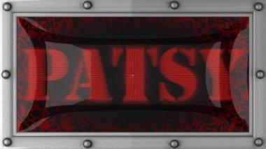 Patsy em led — Vídeo Stock