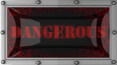 Dangerous on led — Stock Video