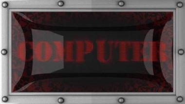 Počítač v čele — Stock video