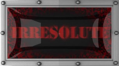 Irresolute on led — Stock Video