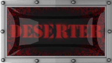 Deserter on led — Stock Video