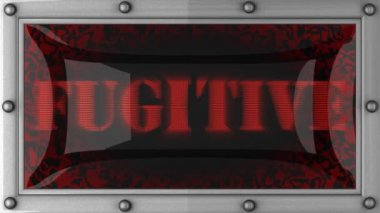 Fugitive on led — Stock Video