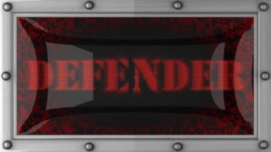 Defender on led — Stok video