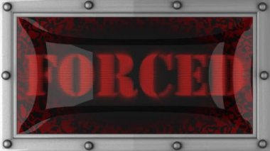 Forced on led — Stock Video