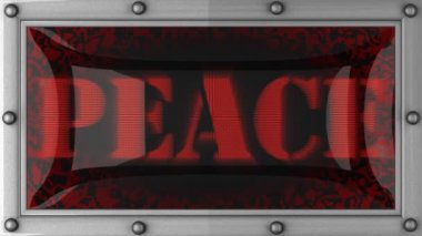 Peace on led — Wideo stockowe