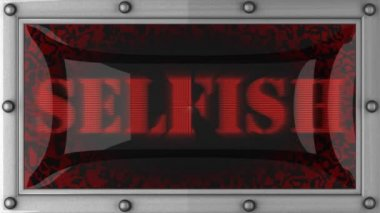 Selfish on led — Stock Video