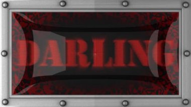 Darling on led — Stock Video
