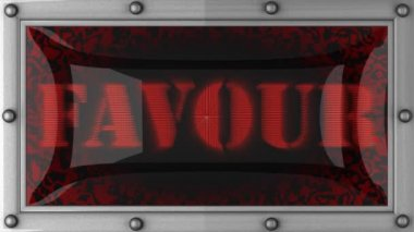Favour on led — Stock Video