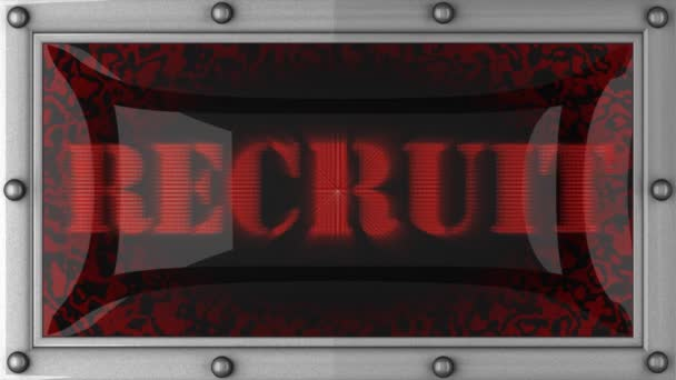 Recruit on led — Vidéo