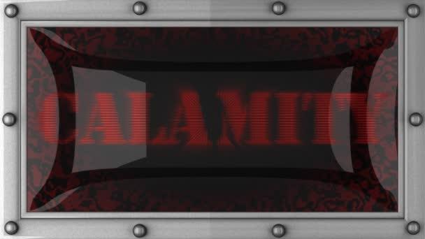 Calamidad en led — Vídeo de stock