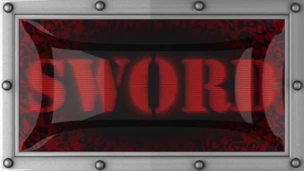 épée sur conduit — Vidéo
