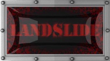 Landslide on led — Stock Video