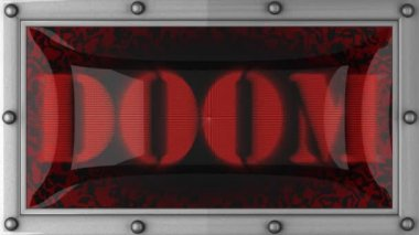 Doom on led — Stock Video