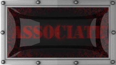 Associate on led — Stock Video