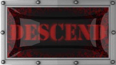 Descend on led — Stock Video