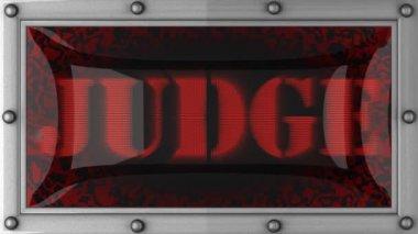 Judge on led — Stock Video