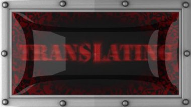Translating on led — Stockvideo