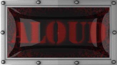 Aloud on led — Stock Video