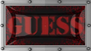 Guess on led — Vídeo Stock