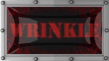 Wrinkle on led — Stock Video