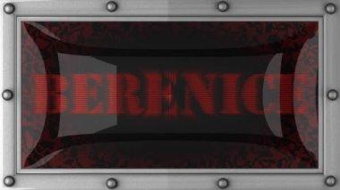 Berenice em led — Vídeo Stock
