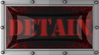 Detain on led — Stock Video