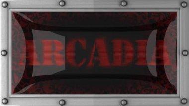 Arcadia on led — Stockvideo