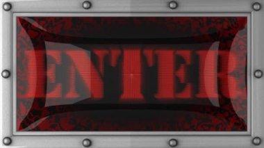 Enter on led — Stock Video