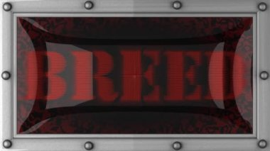 Breed on led — Stock Video