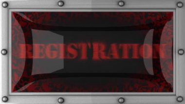 Registration on led — 图库视频影像