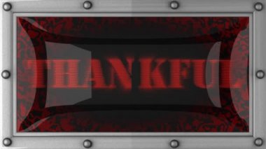 Thankful on led — Stockvideo