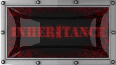 Inheritance on led — Stock Video
