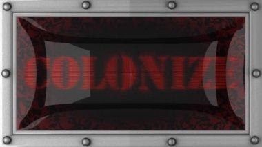 колонизировать на привело — Стоковое видео