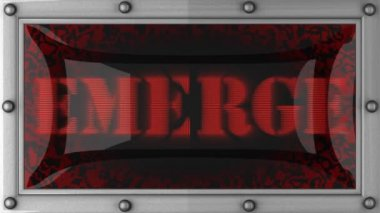 Emerge on led — Stock Video