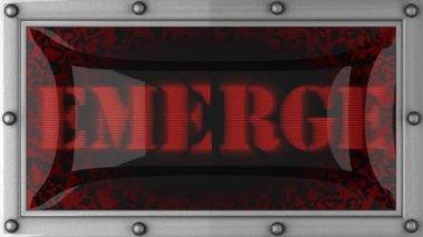 Emerge on led — Stock Video