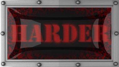 Harder on led — Stock Video