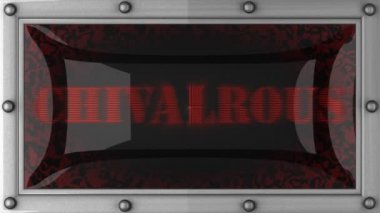 Chivalrous on led — Stock Video
