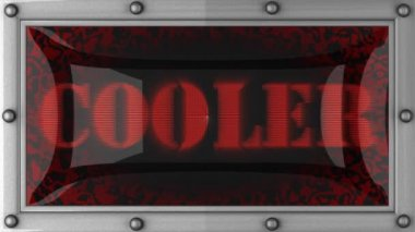 Cooler on led — Stock Video