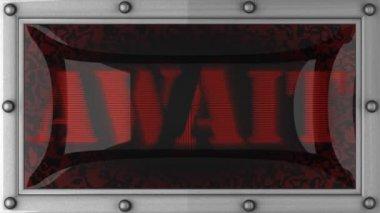 Await on led — Stock Video