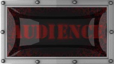 Publiczność na led — Wideo stockowe