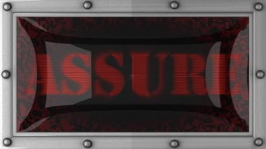 Assure on led — Stock Video