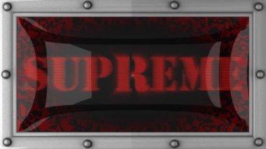 Supreme on led — Stock Video