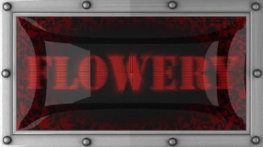 Flowery on led — Wideo stockowe